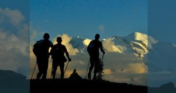 Mt Blanc depuis la Tête aux Vents