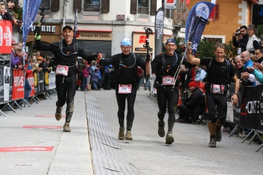Finisher UTMB 2012: Laurent, Thierry, Patrick, Philippe