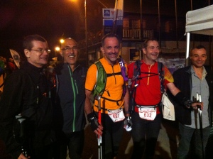 Les 4 Finisher de la Montagn'Hard 60: Thierry, Laurent, Bruno, Christophe