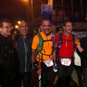 Les 4 Finisher de la Montagn'Hard 60: Thierry, Laurent, Bruno, Christophe