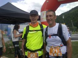 Sylvain et Patrick finisher du Courchevel X-Trail 2013