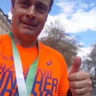 Christope finisher du Marathon de Paris 2015