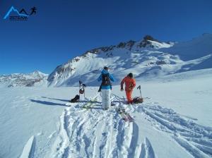 Ski de randonnée, Tignes, Décembre 2015