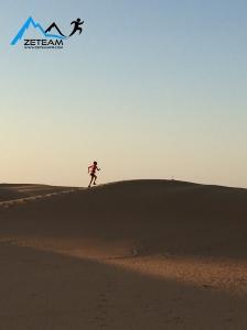 Courir dans le désert